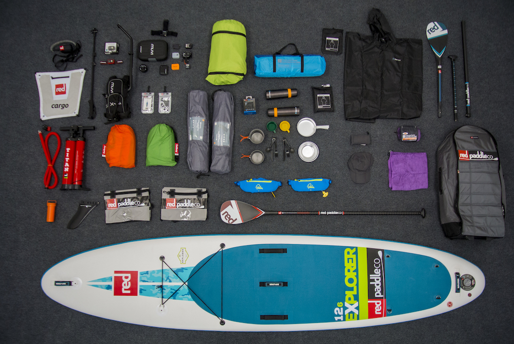 Kit included in Red Paddle Co's ultimate adventure pack