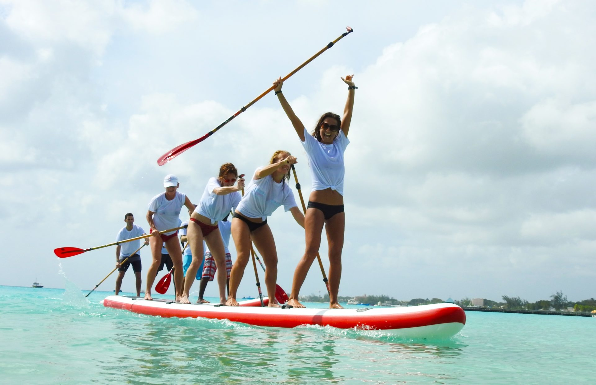 Red Paddle Co Red Dragon Barbados competition