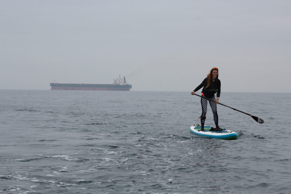 1st women to paddle board across English channel