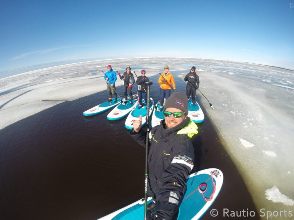 Paddle boarding in Finland