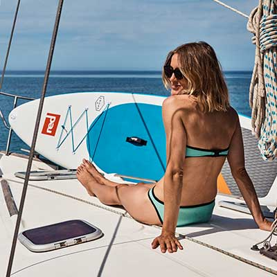 Image of Red Paddle Co Sport board on yacht