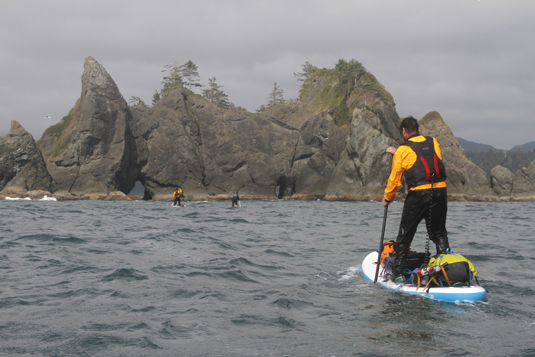 Inflatable SUP exploring