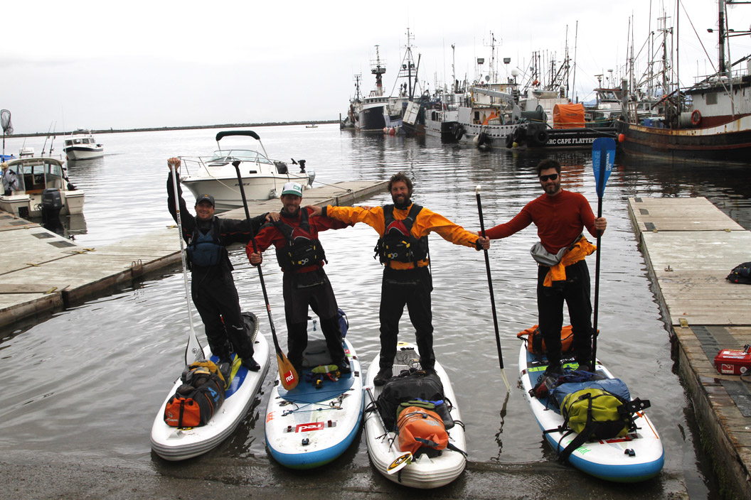 Arriving in Cape Flattery by paddleboard