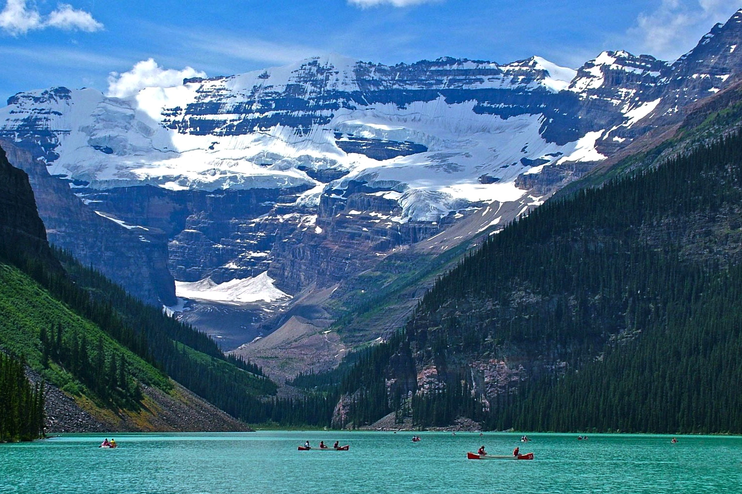 The Canadian wilds of paddle boarding in Lake Louise Canada