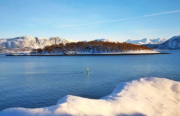 Reisafjorden, Norway proves you don't need a beach to enjoy paddle boards