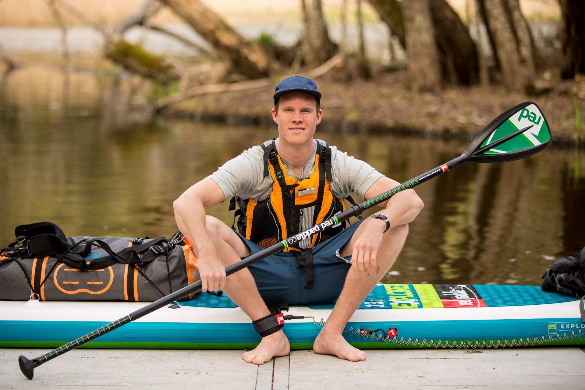 Marcus Aspsjö is going to spend two months paddling along the Yukon River