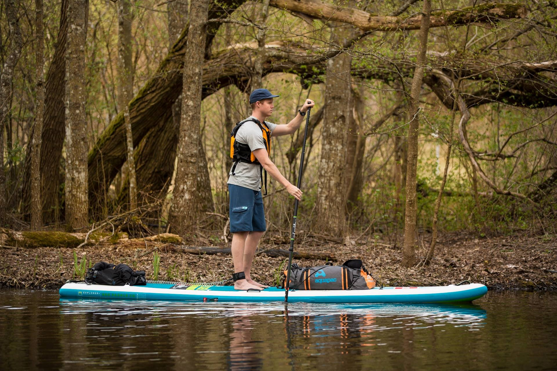 Marcus Aspsjö training before his American Stand Up Paddle Board Adventure