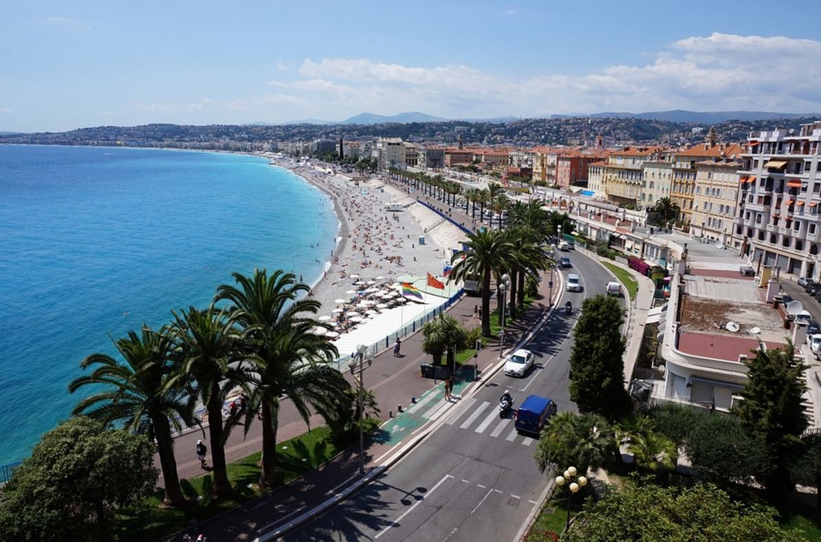 French coastline in Nice