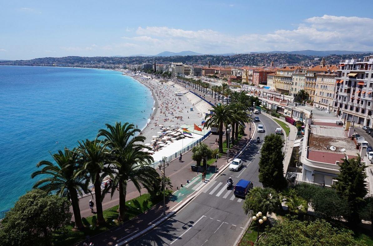 French coastline in Nice