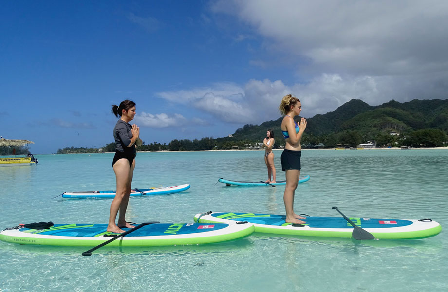 sup yoga in the cook islands