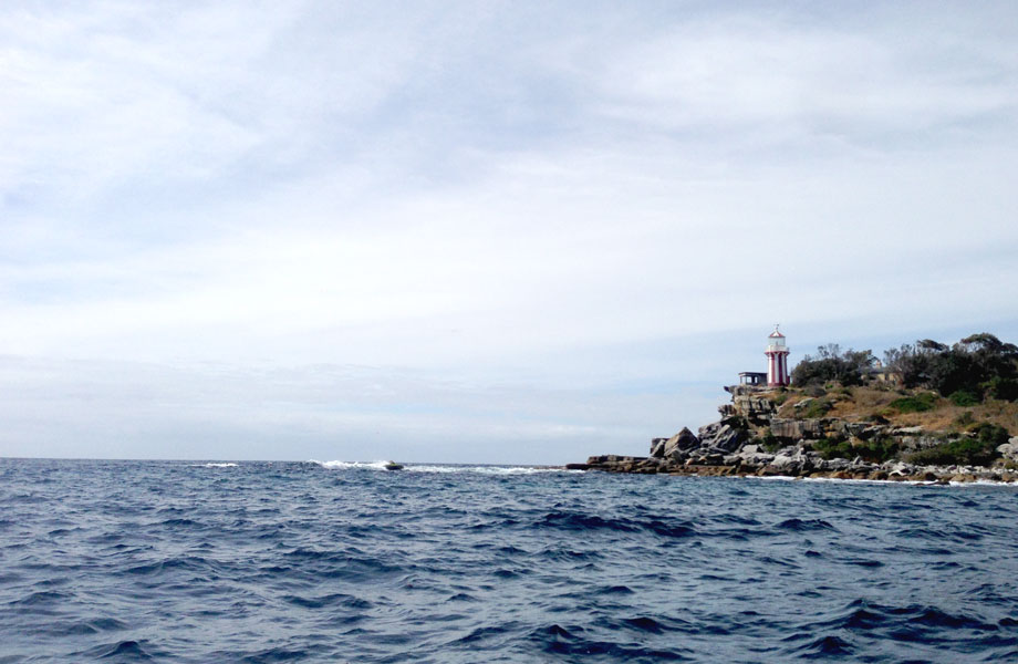 choppy sea and lighthouse in Australia