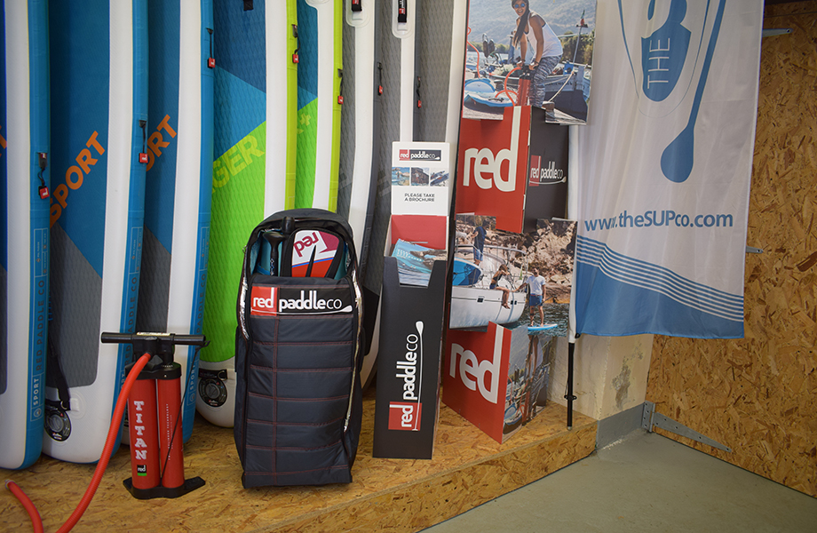 red paddle co bag on display