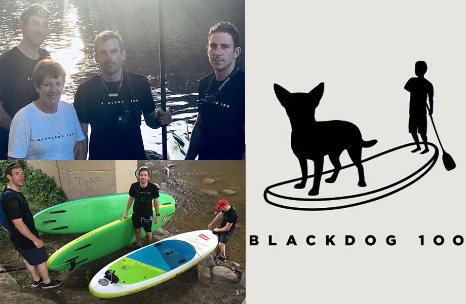 sup for charity black dog 100