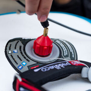 Red Original Electric Pump Schrader Valve Adaptor