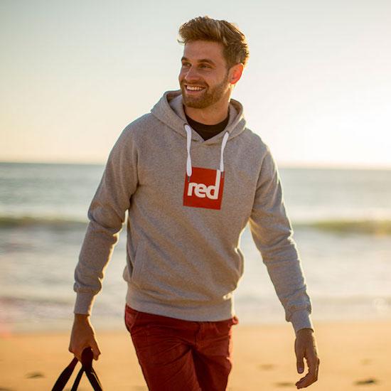 Red Original Square logo hoodie