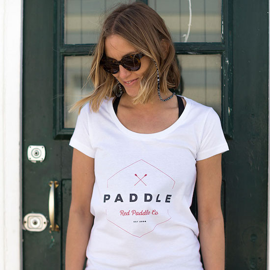 Red Original Women's paddle on t-shirt
