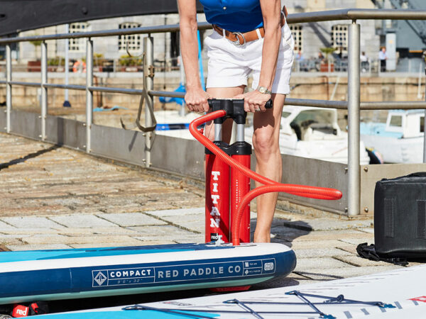Inflating a paddle board