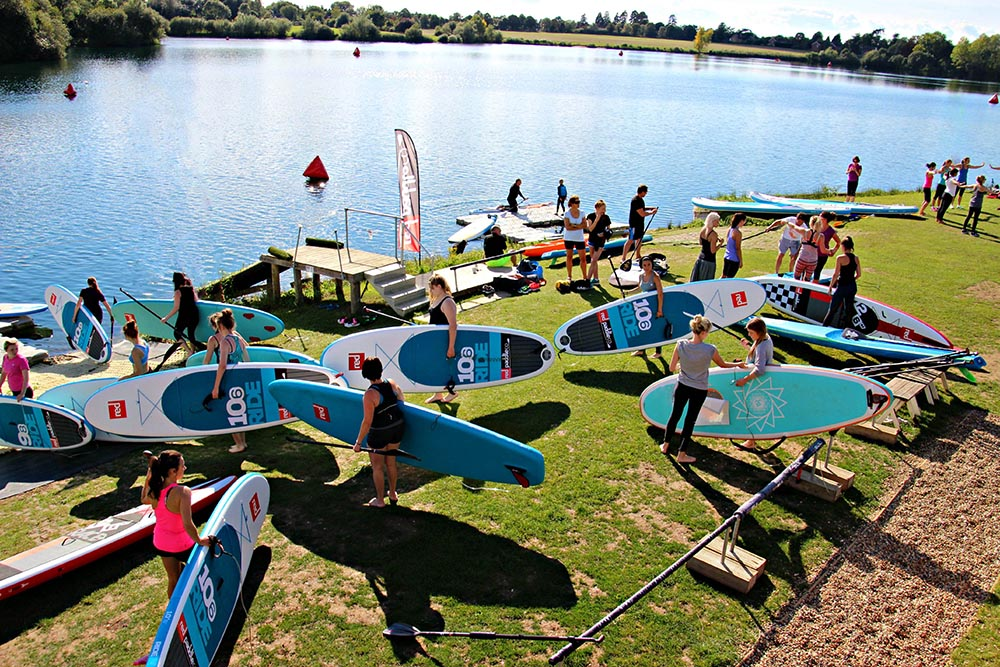 Paddleboarding school using Red Paddle Co boards