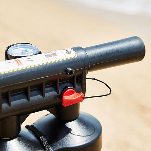 close up of the titan pump details