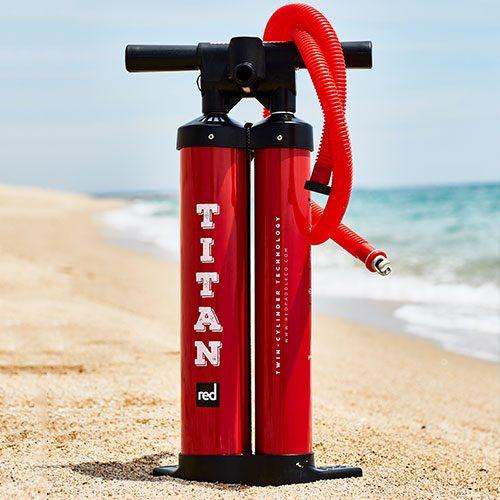image of titan pump on the beach