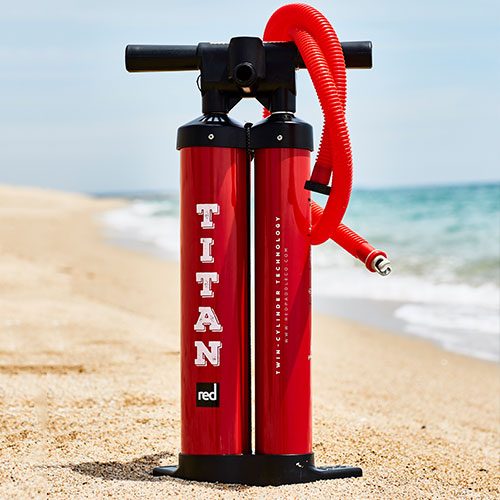 image of titan pump on the beach