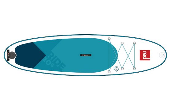 line drawing of a paddle board