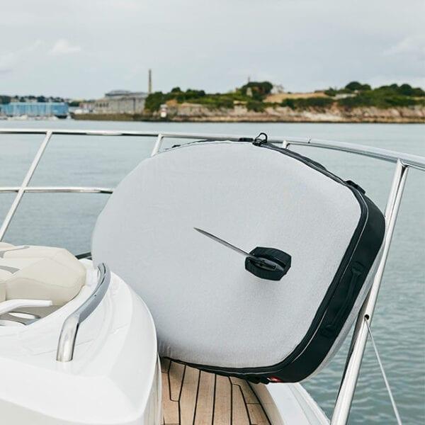 Board Jacket on boat