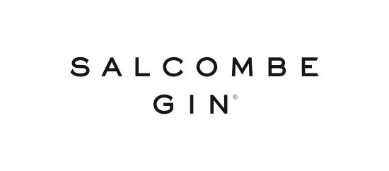 Black Salcombe Gin logo on white background