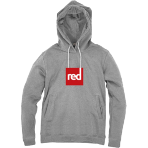 Red Paddle Co Logo Unisex Hoodies in grey on a white background - Spanish