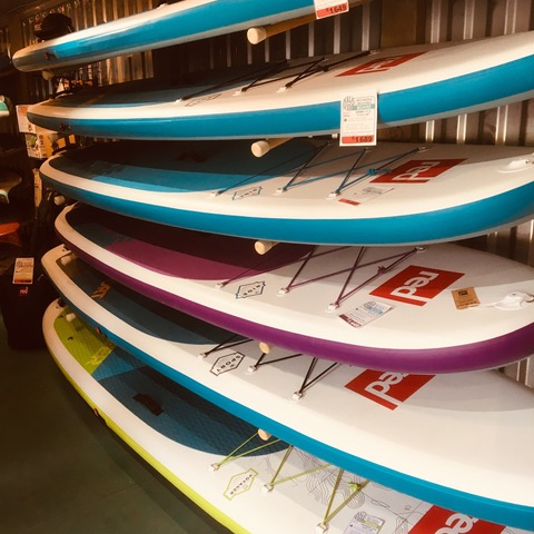 Red Paddle Co Paddle Boards On Display In Kalavida Surf Shop