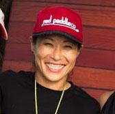 Noriko Wearing Red Paddle Co Cap