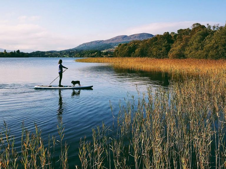 paddleboarding in Scotland