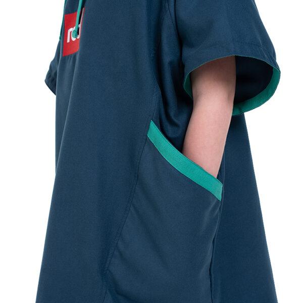 kids navy quick dry robe 1