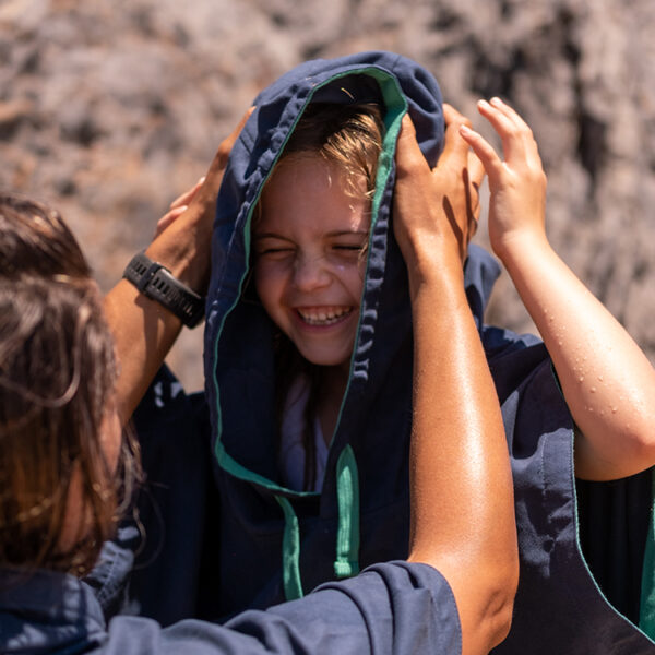 kids navy quick dry robe 2