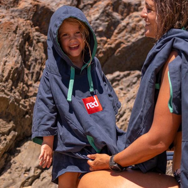 kids navy quick dry robe 3