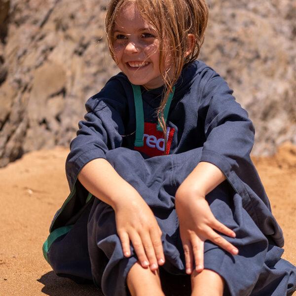 kids navy quick dry robe 6