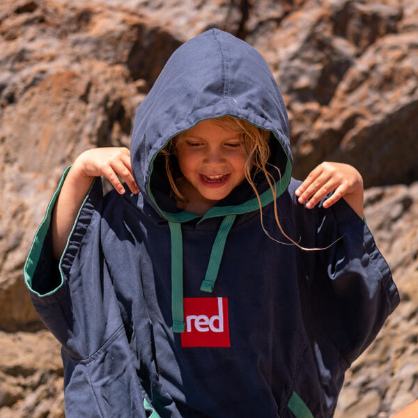kids navy quick dry robe 7