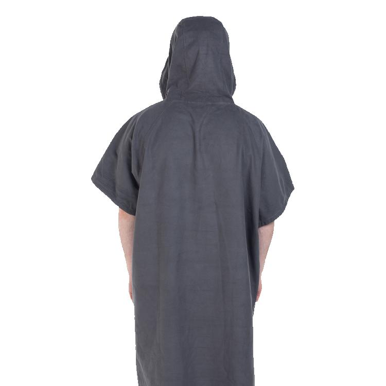 mens quick dry robe grey