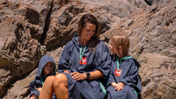 navy quick dry robe womens slider
