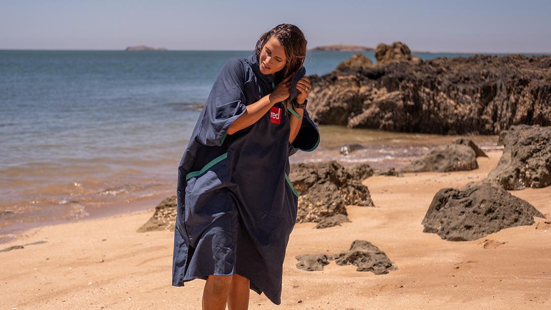 womens quick dry navy robe slider
