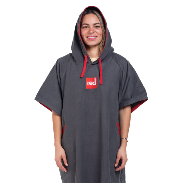 womens quick dry robe in grey