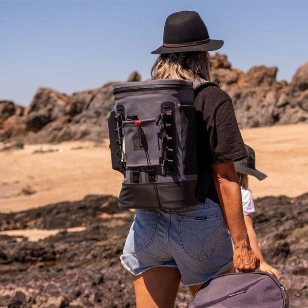 red original coolbag backpack beach