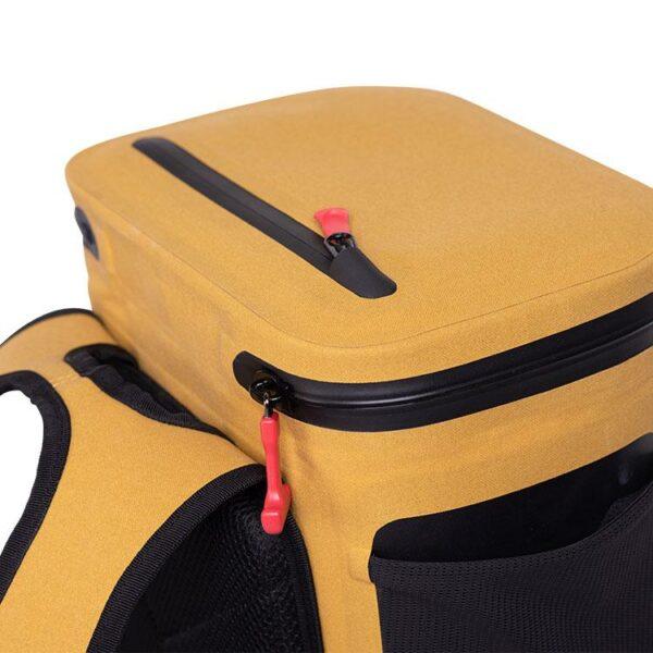 red original coolbag backpack mustard studio top pocke