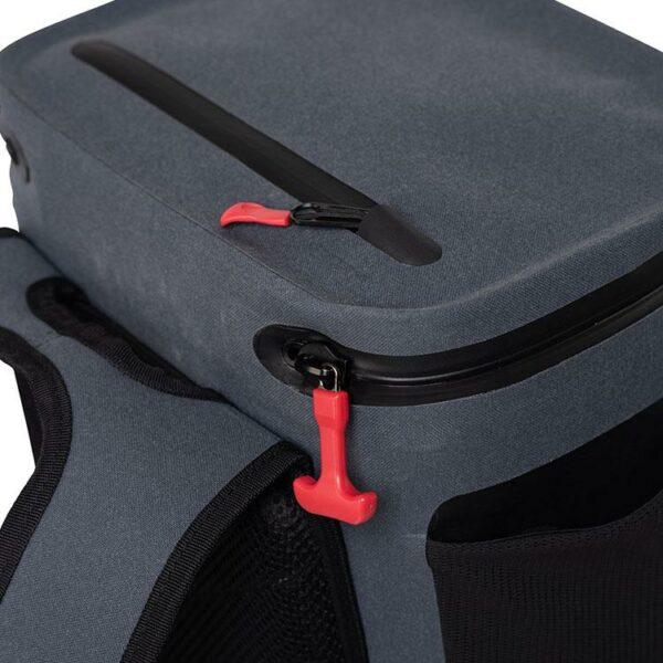 red original coolbag backpack studio zips